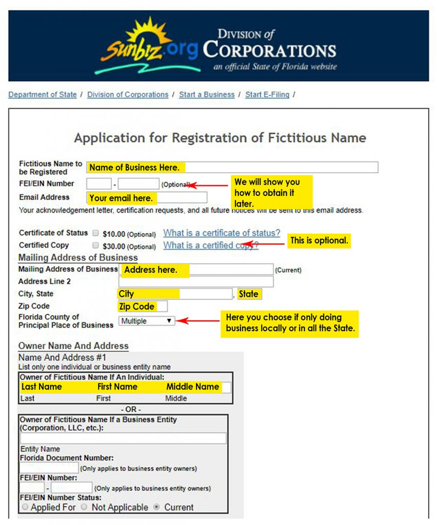 application-of-registration-for-a-fictious-name